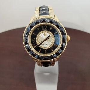 Judith Ripka Black-Gold Ceramic-SS Watch